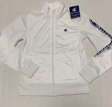 Champion Boys Zip Front Track Jacket White Size Youth Medium