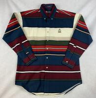 Vintage Polo Ralph Lauren Chaps Striped Color Block Shirt Size Medium