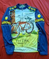 Pearl Izumi Men Med L/S Cycling Jersey Full Zip New Belgium Fat Tire Ale Beer