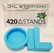 Nogoo / 420 Stands Blue Station Holding Small Container Scraper Non Stick
