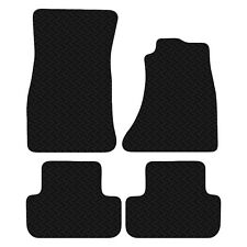 Audi A4 B8 2007 to 2015 Black Floor Rubber Fully Tailored Car Mats 3mm 4pc Set