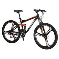 "Mountain Bike 27.5"" Mag wheels Full Suspension Bicycle 21 Speed MTB Mens bikes"