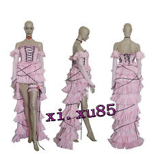 HOT Chobits Chii Cosplay Costume Long Pretty Pink Dress Custom Size High Quality