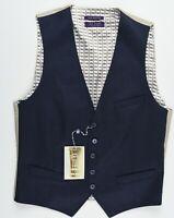 TED BAKER Men's DEBONAIR Wool Waistcoat, Mid Blue, size 38R