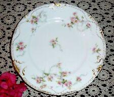 """Theodore Haviland Limoges France Schleiger Pink Rose  Dinner Dish / Plate 8 7/8"""""""