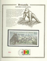 Rwanda Banknote 100 Francs 1978 P 12 UNC w/FDI UN FDI FLAG Prefix BY