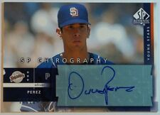 2003 Oliver Perez SP Authentic Chirography Young Stars Autograph Auto #OP Padres