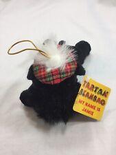 Tartan Scottie Dog Plush Bean Bag Heather Gift Co Black