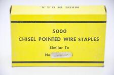 """Paslode GSN18 3/4"""" Chisel Point Staple, Galv., 1 Case of 12 Boxes (Made by Zeb)"""