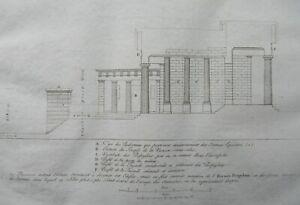 Rare Propylaea Vestibule Acropolis Athens Greek Architecture Antique Print 1808