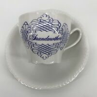 House Of Goebel Grandmother Teacup And Saucer Bavaria W Germany Embossed Plate