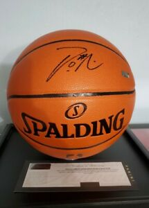 Damian Lillard Autographed Spalding Replica Basketball Panini Authentic Fanatics