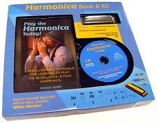 New Rare - Play The Harmonica Today (Harmonica, Book & Cd Kit) Learn Practice