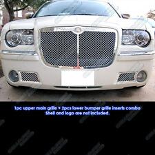 Fits 05-10 Chrysler 300C Stainless Mesh Grille Combo Insert