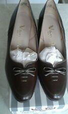 Ladies Van Dal Brown/Dk Taupe Leather Shoes Size 4.5D, BNIB!!
