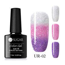 UR SUGAR 7.5ml Nail Gel Polish Thermal Color Changing Glitter Soak Off UV Gel