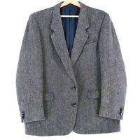 Harris Tweed 100% Laine Gris Veste Blazer Taille US/UK 44 Eu