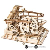 ROKR 3D Wooden Puzzle Marble Run Laser Cut DIY Waterwheel Coaster Model Kits Set
