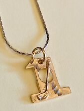 14K Gold Plated New Hole In One Golf Necklace