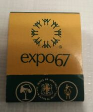 Expo 67 Terre des Hommes Man and his World World Fair  book of matches
