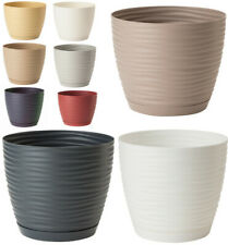 More details for plant pots with saucers sahara flowerpot garden flower planters indoor stand
