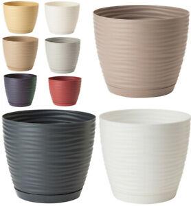 Plant Pots With Saucers Sahara Flowerpot Garden Flower Planters Indoor Stand
