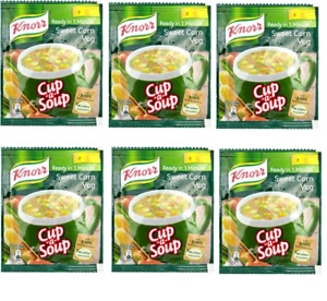 Knorr Instant Sweet Corn Cup-A-Soup Packet of 6 x 10 g