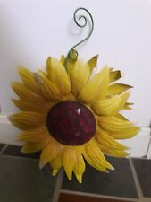 """Used Sunflower Hanging Home Decor Metal Indoor/Outdoor 10 """" L x 4 """" W x 10 """" H"""