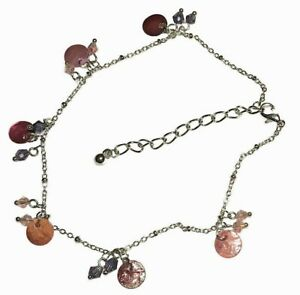 """Genuine Mother of Pearl Anklet 9"""" + 1.5"""" Extension"""
