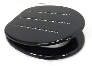 ANTI BACTERIAL BLACK DIAMANTE UNIVERSAL TOILET SEAT LUXURY BATHROOM + FITTING UK