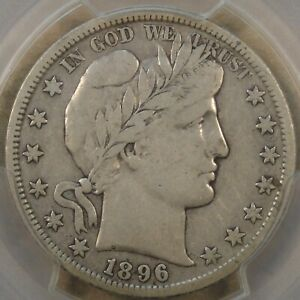 1896-S Barber Half Dollar 50c PCGS Certified VF20 CAC