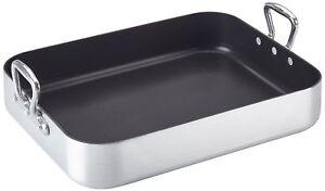Mauviel 45 x 35 x 8 cm M'Pure Aluminium Roaster with Non Stick Interior roasting