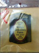Cottage Cloth Ribbon Embroidery Fabric - Camel