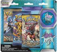 Pokemon Legendary Beasts Suicune Pin Collection + 3 Booster Packs new