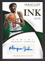 2014-15 Immaculate Ink Autograph #49 Marques Johnson Auto /99 Milwaukee Bucks