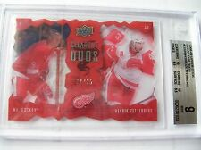 08-09, UD SERIES 1 CLEAR CUT DUOS,G. HOWE,H.ZETTERBERG C.CD2,21/25, BGS-9 MINT