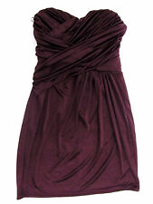 Express Plum Sweetheart Neckline Rouch Cross Over Tube Dress Sz XS Sleeveless