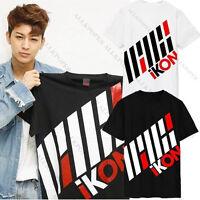 KPOP IKON iKONCERT Japan Concert T-shirt Unisex New BI BOBBY Tshirt Short Sleeve