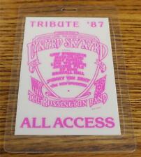 Vintage & Genuine Lynyrd Skynyrd Tribute Tour 87 T-BIRD Laminated Backstage Pass