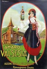 """AMARO VALSESIA"" Affiche originale entoilée  litho 1919     104x144cm"