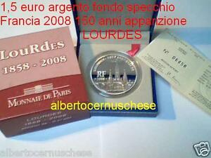 1,5 euro 2008 argento proof BE FRANCIA france LOURDES