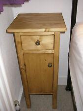 H70 W40 D40cm BESPOKE CUPBOARD + DRAW BEDSIDE HALL BATHROOM WARM OAK WAXED PINE