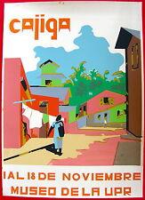 Luis Cajiga Cartel 1968? Poster Serigraph Museo UPR Puerto Rico
