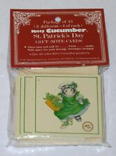 Kitty Cucumber Vintage Irish Boy And Girl Note Cars With Envelope