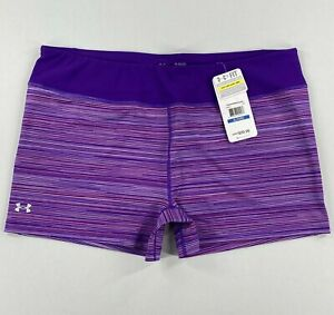 Under Armour Womens HeatGear Sonic Printed Shorty Shorts Size XL