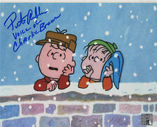 CHARLIE BROWN personally signed 10x8 - voice PETER ROBBINS (a)