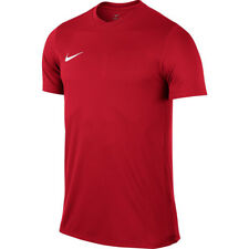 Mens Kids Nike Football Rugby Sports Match Training T Shirt Top Jersey Park VI Large 41/43 Red