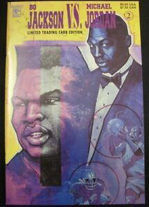 BO JACKSON VS MICHAEL JORDAN 2 CELEBRITY COMIC LIMITED CARD VARIANT 1992 VF/NM