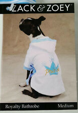 Zack & Zoey Medium Embroidered Prince Royalty Bathrobe for Dogs