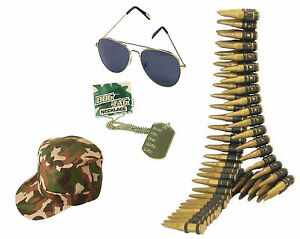 ADULTS MILITARY HAT UNISEX CAMOUFLAGE SOLDIER ARMY HAT CAP LOT FANCY COSTUME
